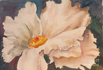 Painting - White Poppy by Linda Rupard