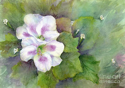 Painting - White Purple Flowers by Amy Kirkpatrick