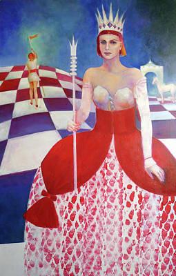 White Queen Print by Elena Bardina