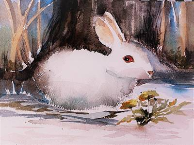 Painting - White Rabbit by Mindy Newman