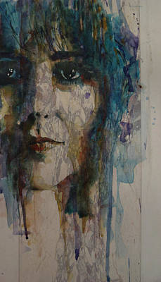 Grace Slick Painting - White Rabbit by Paul Lovering