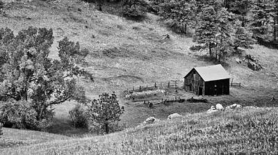 Photograph - White Ranch In Black And White by Kevin Munro