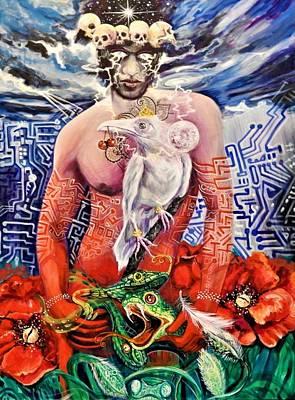 Painting - White Raven by Yelena Tylkina