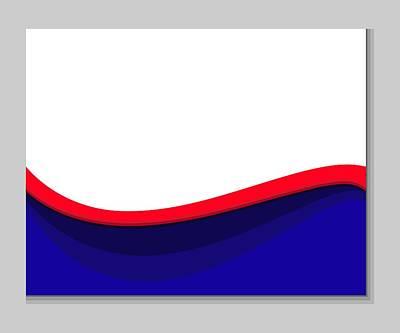 White Red Blue Wave Art Print