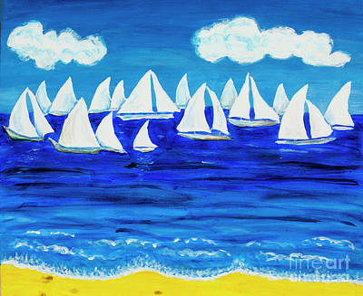 Painting - White Regatta 3 by Irina Afonskaya