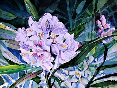 Painting - White Rhododendron by Mindy Newman