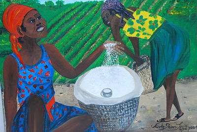 Art Print featuring the painting White Rice Merchant by Nicole Jean-Louis
