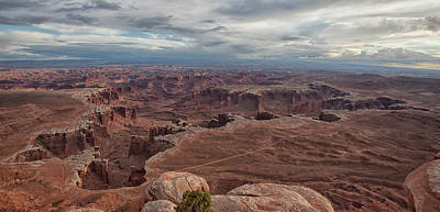 Photograph - White Rim Overlook by Alan Vance Ley