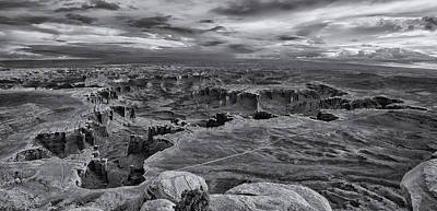 Photograph - White Rim Overlook Monochrome by Alan Vance Ley