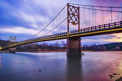 Photograph - White River And Beaver Bridge Sunset - Northwest Arkansas by Gregory Ballos
