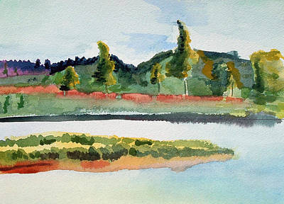 Painting - White River At Royalton After Edward Hopper by Paul Thompson