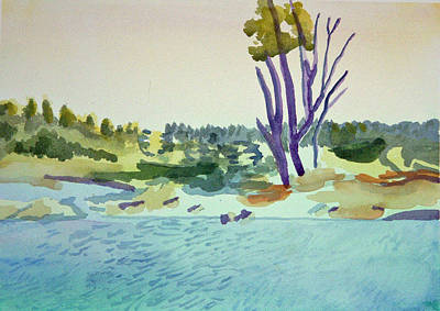 Painting - White River At Sharon After Edward Hopper by Paul Thompson