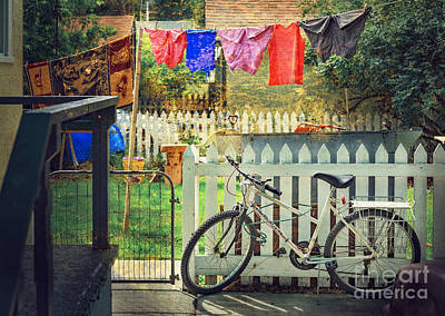 Art Print featuring the photograph White River Bicycle by Craig J Satterlee