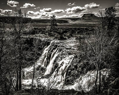 Photograph - White River Falls Black  And White by Wes and Dotty Weber