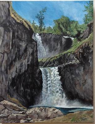 Painting - White River Falls by Sara Stevenson