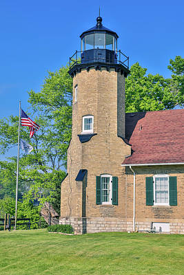 Photograph - White River Lighthouse Michigan by Dan Sproul