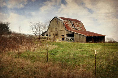 Photograph - White River Trace Barn 2 by Marty Koch