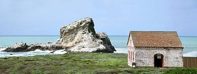 Photograph - White Rock And Fire Building Piedras Blancas Pano by Floyd Snyder