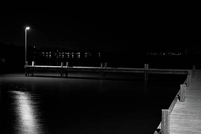 Photograph - White Rock Lake Bw 092216 by Rospotte Photography