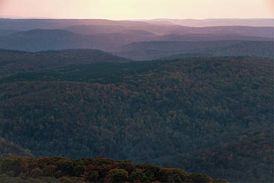 Photograph - White Rock Mountain Sunset - Northwest Arkansas by Gregory Ballos