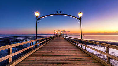 Photograph - White Rock Pier At Dusk by Pierre Leclerc Photography