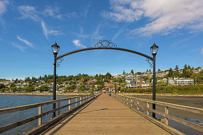Photograph - White Rock Pier In Bc Canada by David Gn