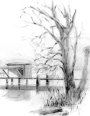 White Rock Treescape Art Print