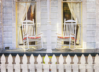 Photograph - White Rockers On Porch by Craig J Satterlee