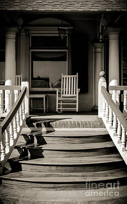 Photograph - White Rocking Chair by Colleen Kammerer