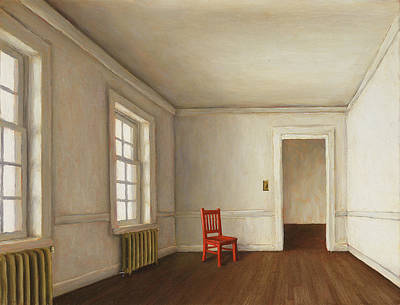 Painting - White Room by Harry Steen