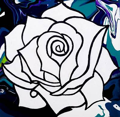 Abstract Flowers Photograph - White Rose by Annie Walczyk