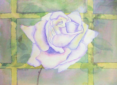 Painting - White Rose by Debbie Lewis