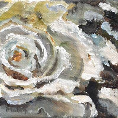 Donna Summer Painting - White Rose by Donna Tuten