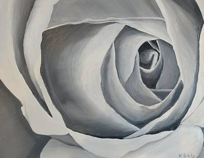 Painting - White Rose by Kevin Daly