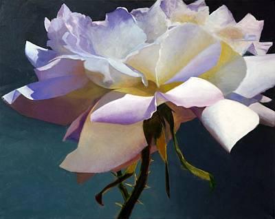 White Rose Of Eden Art Print