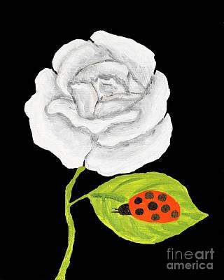 Painting - White Rose, Oil Painting by Irina Afonskaya