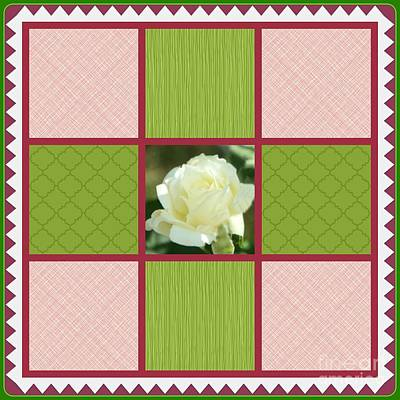 Photograph - White Rose Quilt Design by Bobbee Rickard