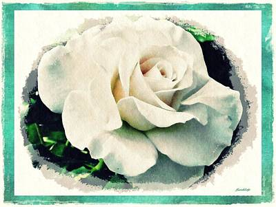 Photograph - White Rose by Sarah Loft