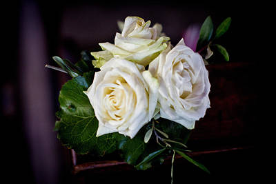 Photograph - White Roses by Dany Lison