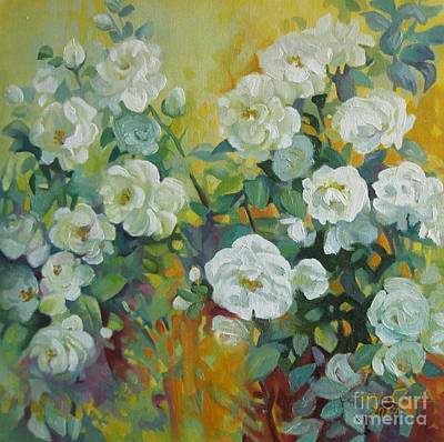 Painting - White Roses by Elena Oleniuc