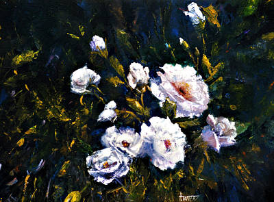 White Roses Art Print by Jimmie Trotter