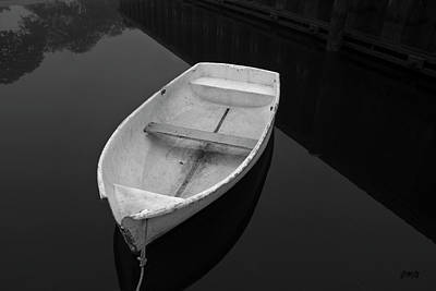 Photograph - White Rowboat by David Gordon
