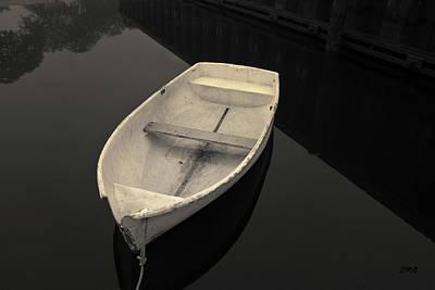 Photograph - White Rowboat Toned by David Gordon
