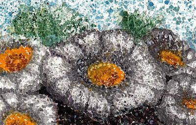 White Saguaro Cactus Blossom Art Print by Cynthia Ann Swan