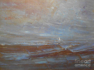 Painting - White Sail by Jane See
