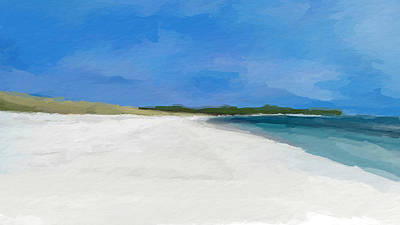 Mixed Media - White Sand Blue Sky by Anthony Fishburne