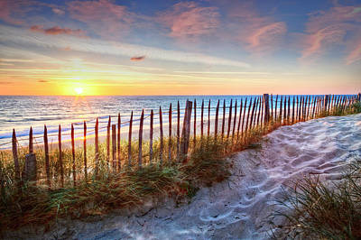 Photograph - White Sands At Sunset by Debra and Dave Vanderlaan