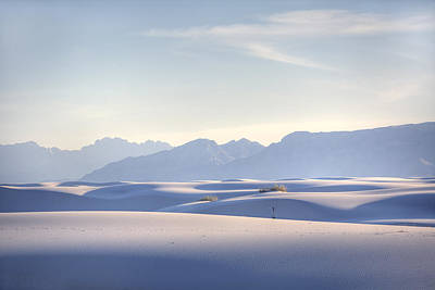 White Sands Blue Sky Print by Peter Tellone