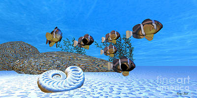 Clownfish Painting - White Sands by Corey Ford