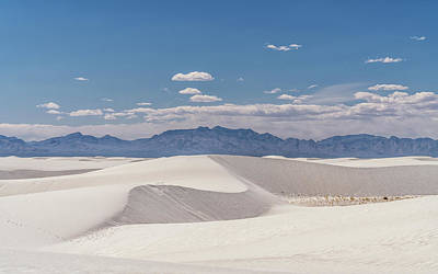 Photograph - White Sands Dunes by Framing Places